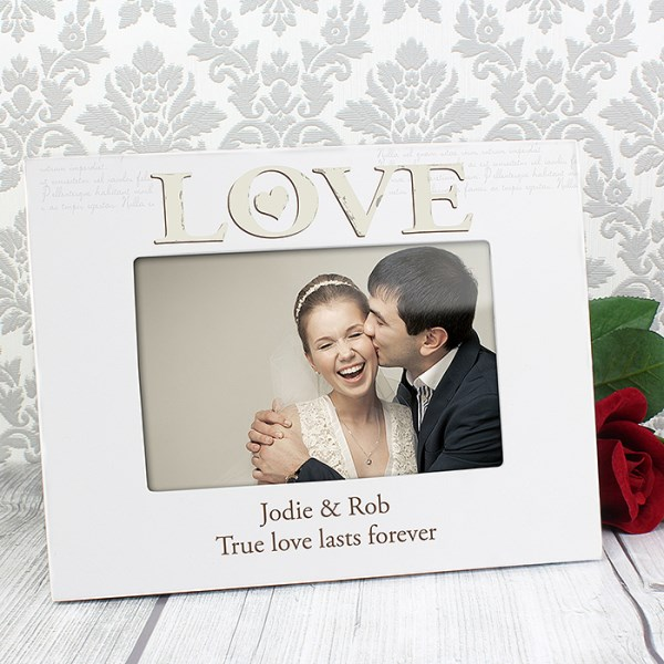 Love White 6 x 4 Frame