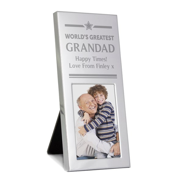 Gold Award Small Silver 2x3 Photo Frame