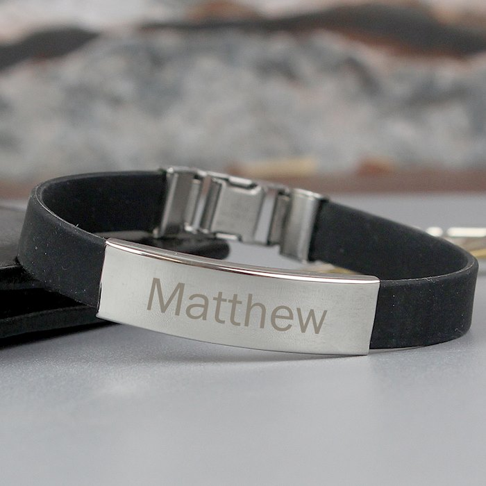 Stainless Steel Men's Black Bracelet