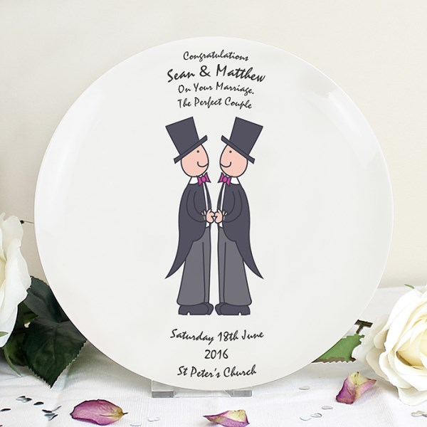 Male Same-Sex Wedding Plate