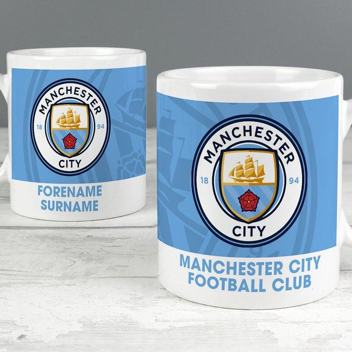 Manchester City FC Bold Crest Mug
