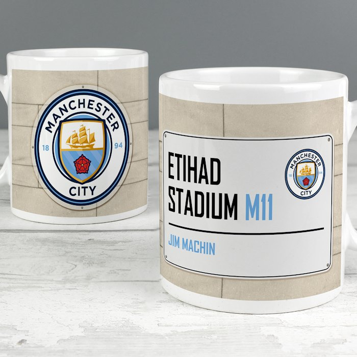 Manchester City FC Street Sign Mug