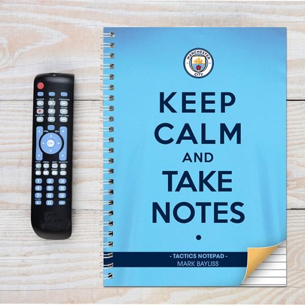 Manchester City Keep Calm A4 Notebook