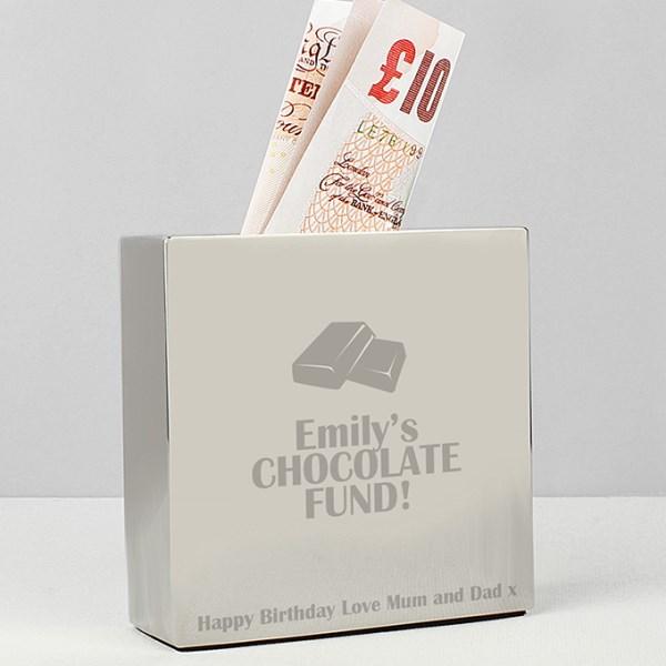 Milk Chocolate Square Money Box