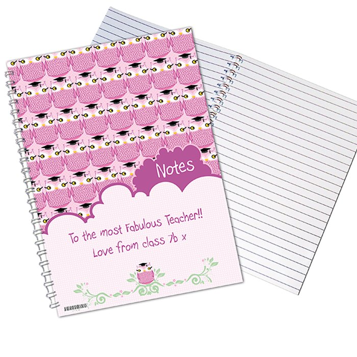 Miss Owl Teacher A5 Notebook