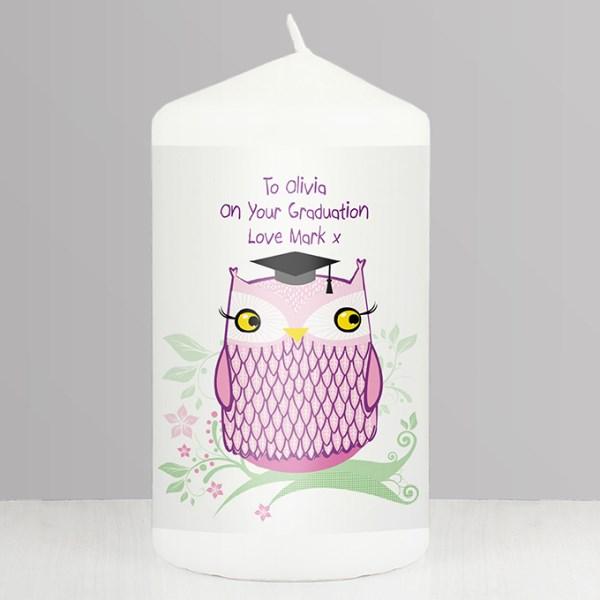 Miss Owl Teacher Candle