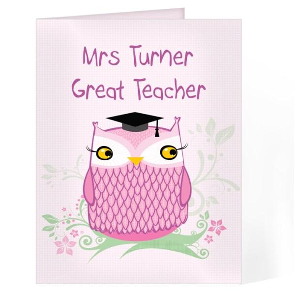 Miss Owl Teacher Card