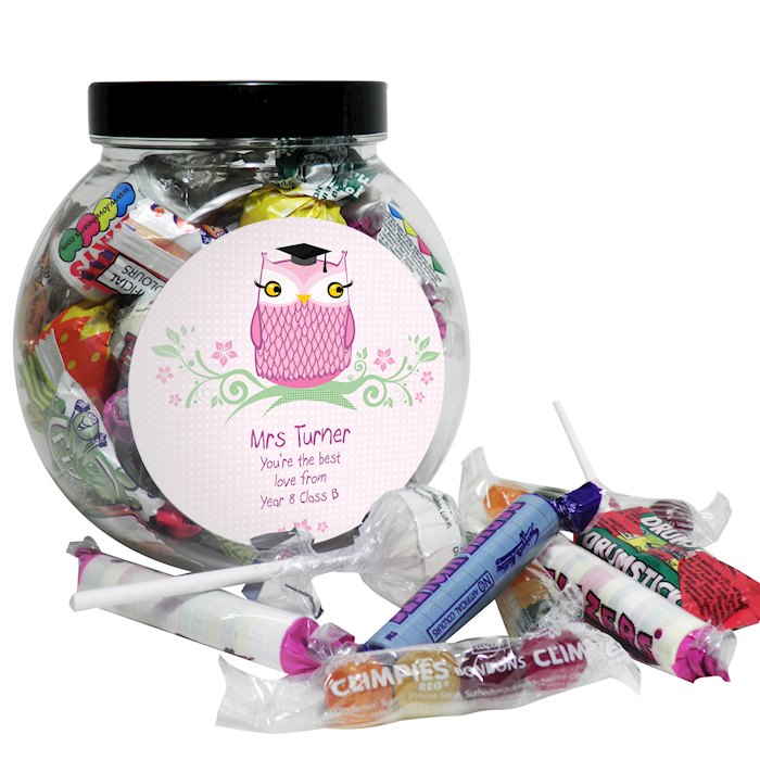Miss Teacher Owl Sweet Jar