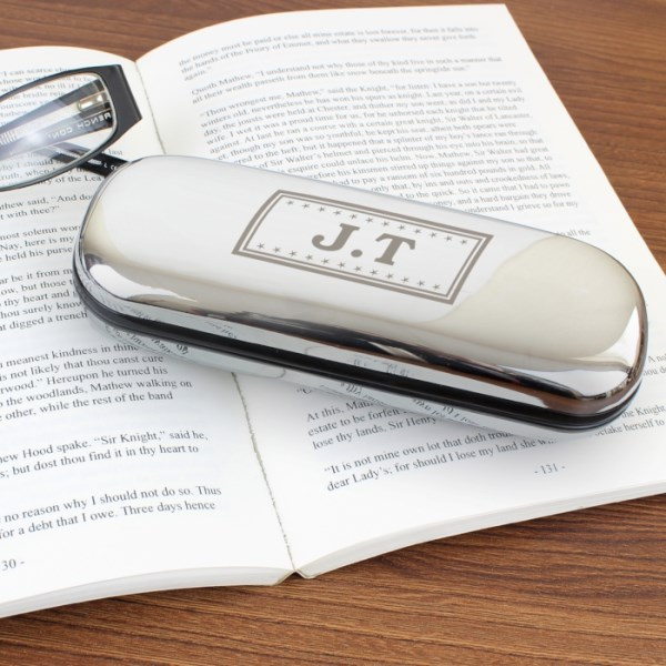 Monogram Glasses Case in Chrome