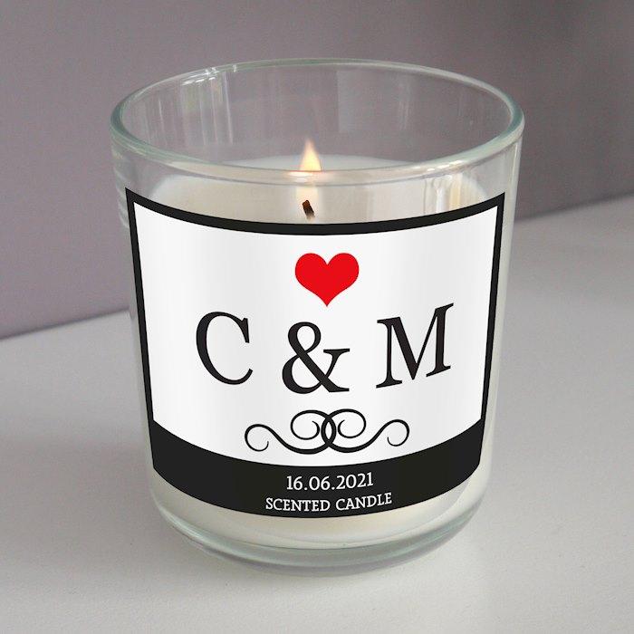 Monogram Scented Jar Candle