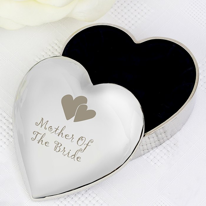 Mother Of Bride  Heart Trinket Box