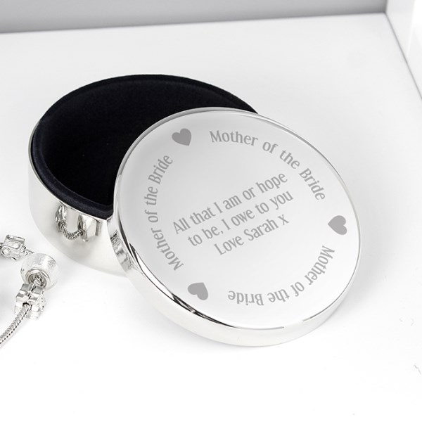 Mother of the Bride Round Trinket Box
