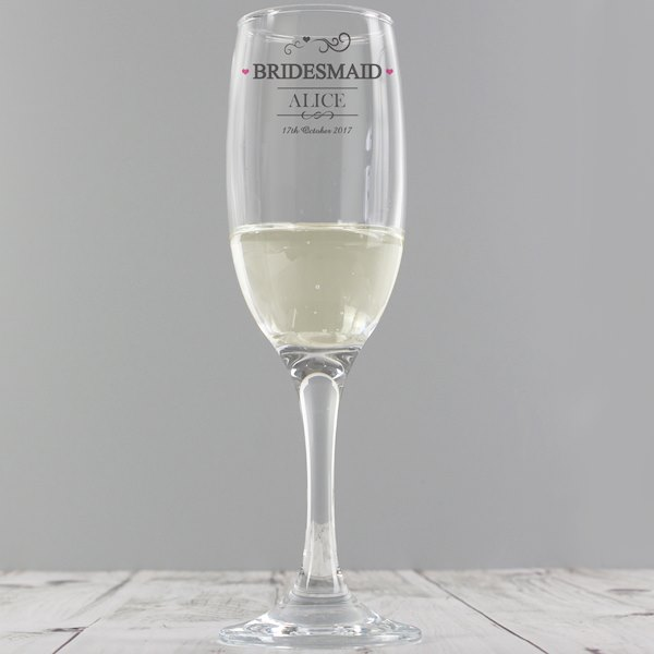 Bridesmaid Glass Flute
