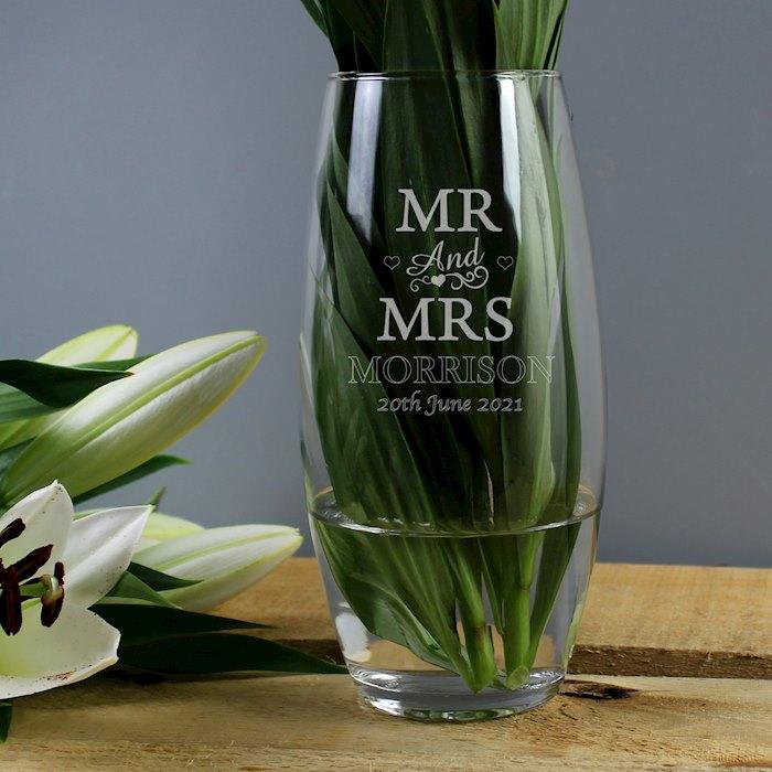 Mr & Mrs Bullet Vase
