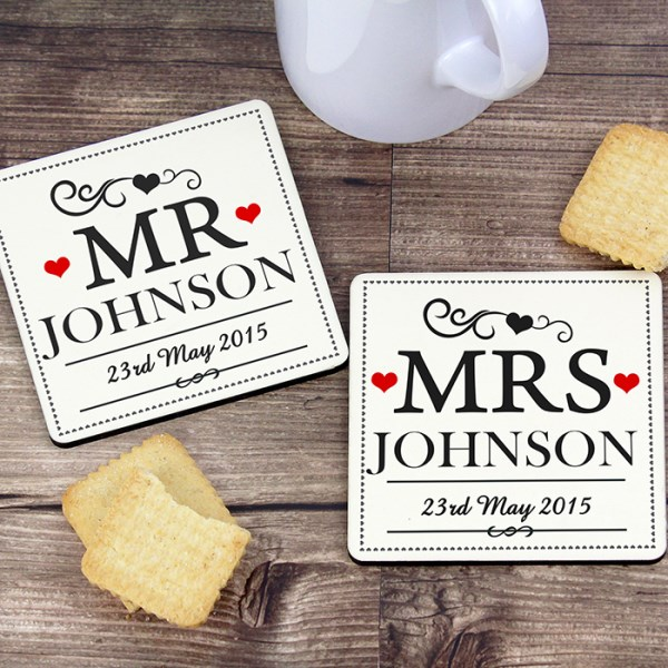 Mr(s) & Mr(s) Coaster Set