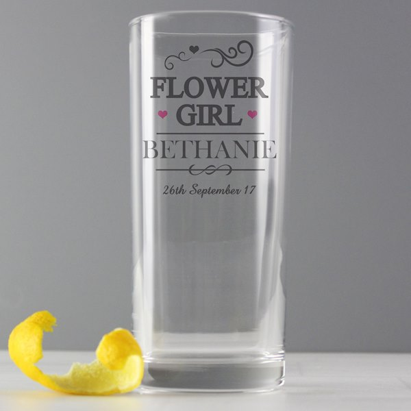 Flower Girl Hi Ball Glass