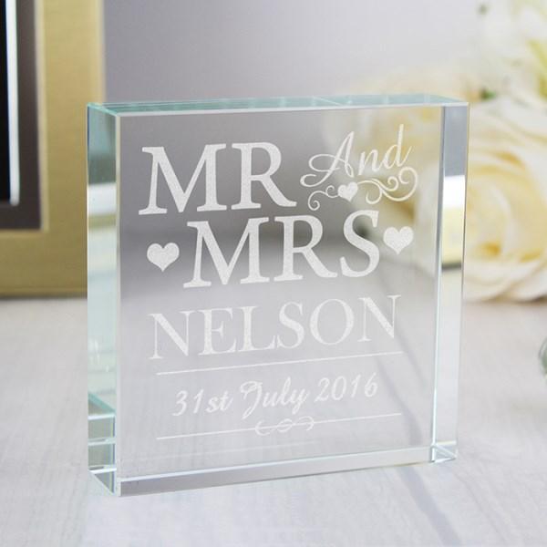 Mr & Mrs Large Crystal Token