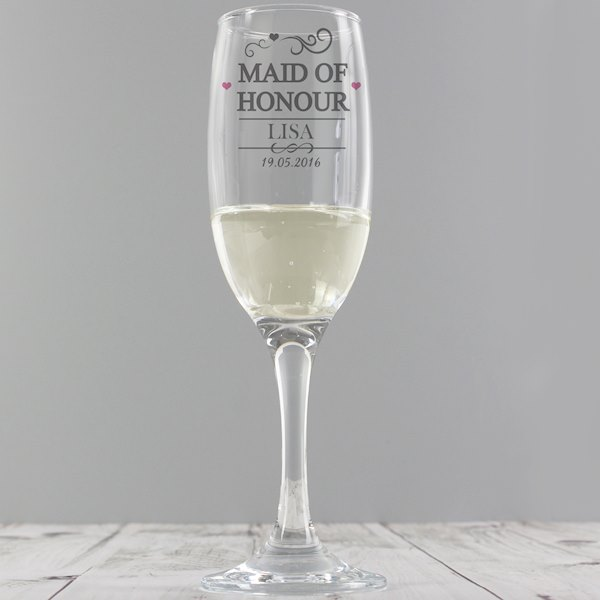 Maid of Honour Glass Flute