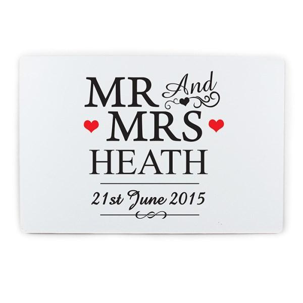 Mr & Mrs Plaque