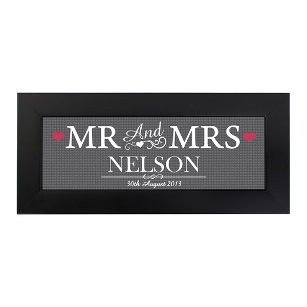 Mr & Mrs Print in Small Frame