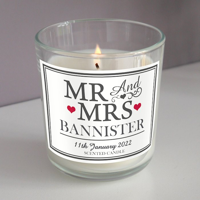 Mr & Mrs Scented Jar Candle