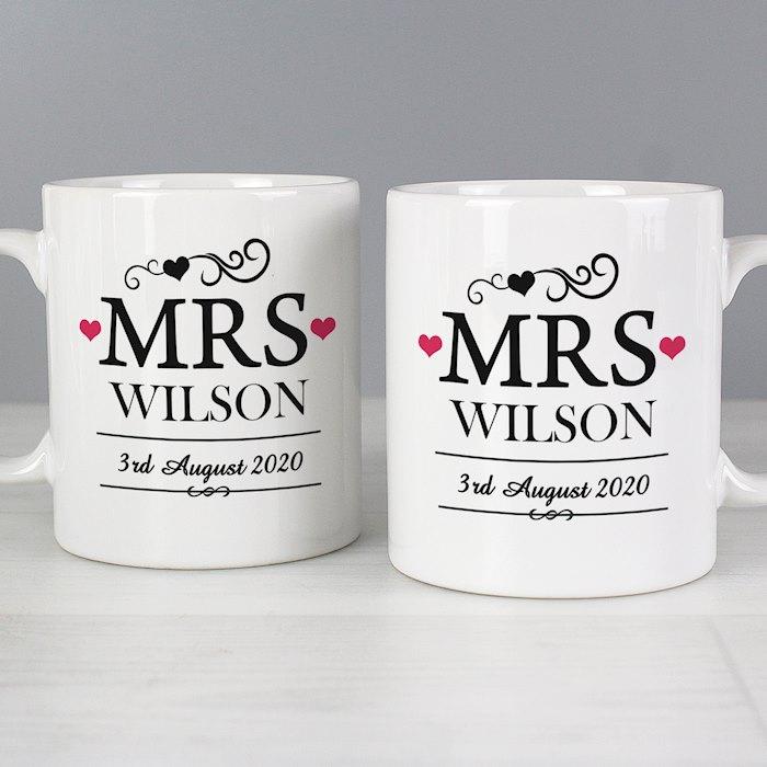 Mrs & Mrs Mug Set