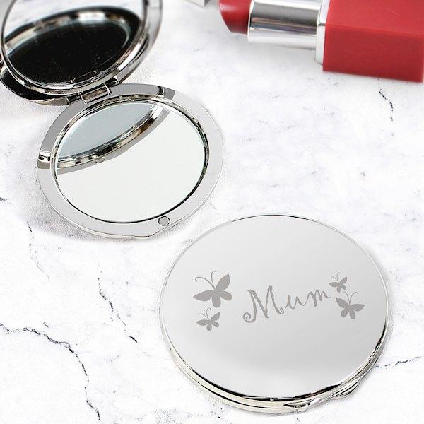 Mum Round Compact Mirror