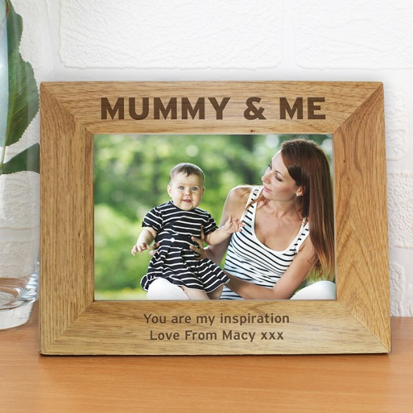 Mummy & Me 7x5 Wooden Photo Frame