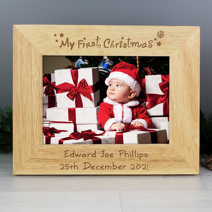 My First Christmas 5x7 Wooden Photo Frame