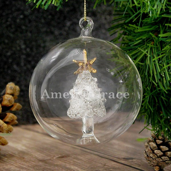 Name Only Christmas Tree Glass Bauble