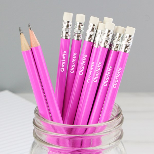 Name Only Pink Pencils