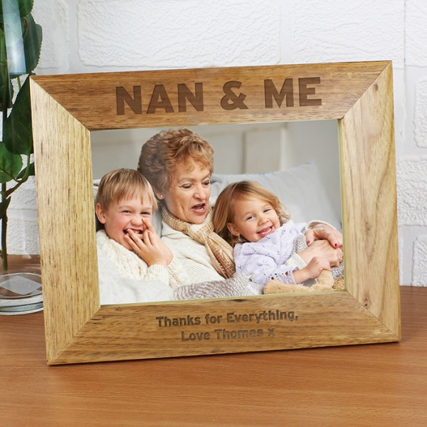 Nan & Me 7x5 Wooden Photo Frame