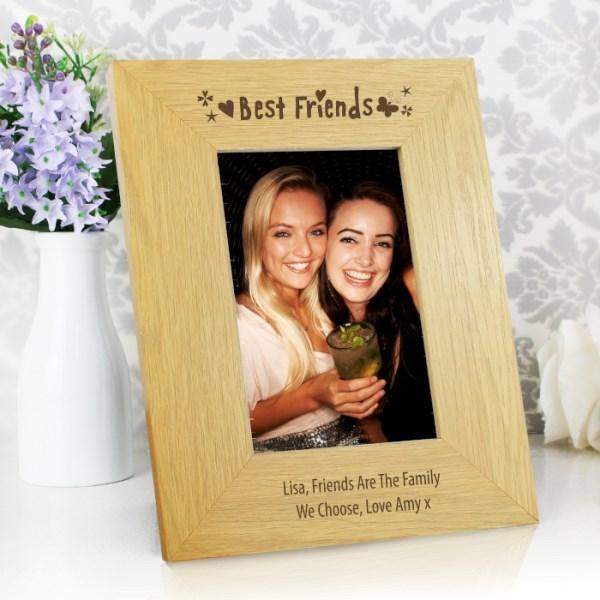 Oak Finish 4x6 Best Friends Photo Frame