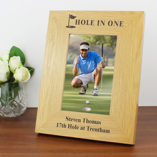 Oak Finish 4x6 Golf Photo Frame