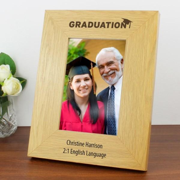 Oak Finish 4x6 Graduation Photo Frame