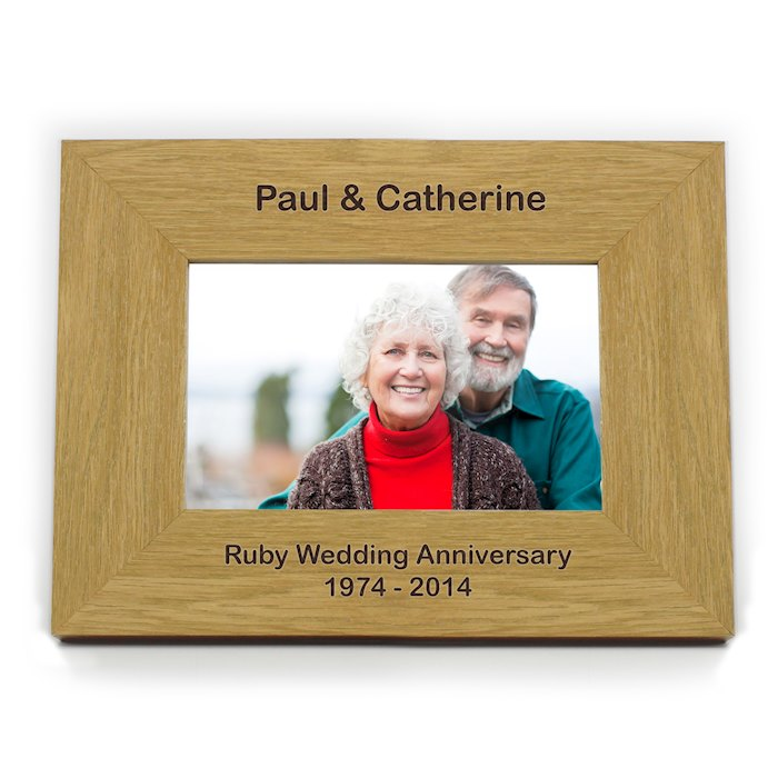 Oak Finish 6x4 Landscape Photo Frame - Short Message