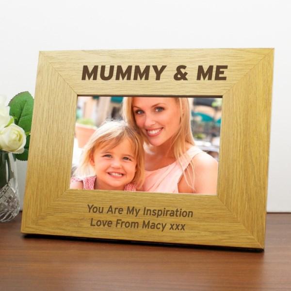 Oak Finish 6x4 Mummy & Me Photo Frame