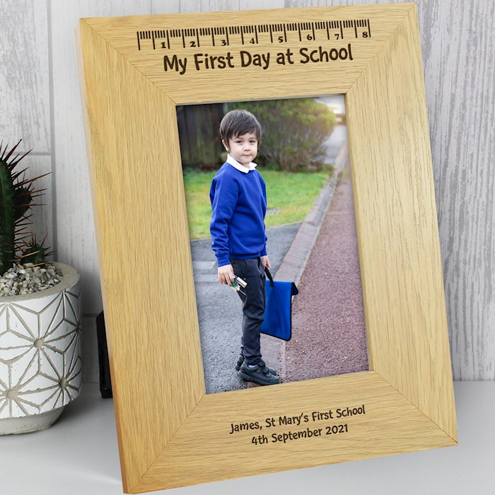 Oak Finish 4x6 My First Day At School Photo Frame