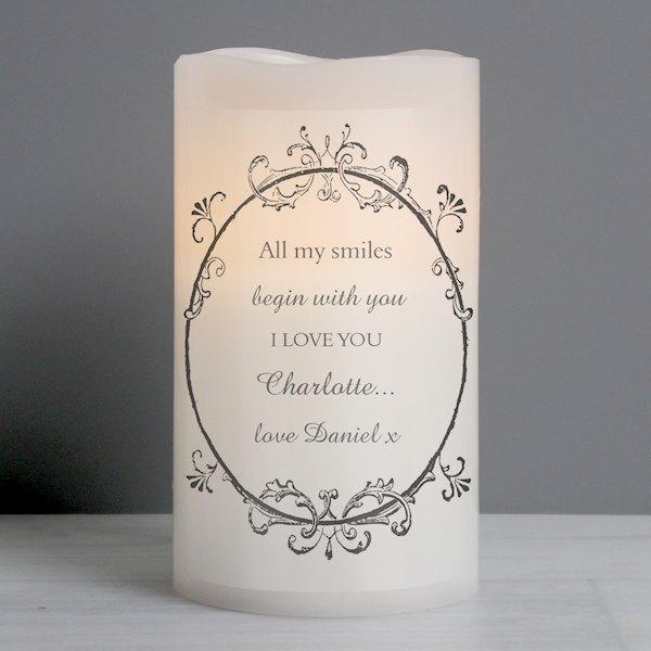 Ornate Frame LED Candle