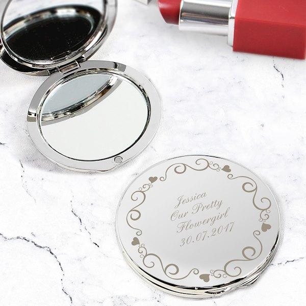 Ornate Swirl Compact Mirror