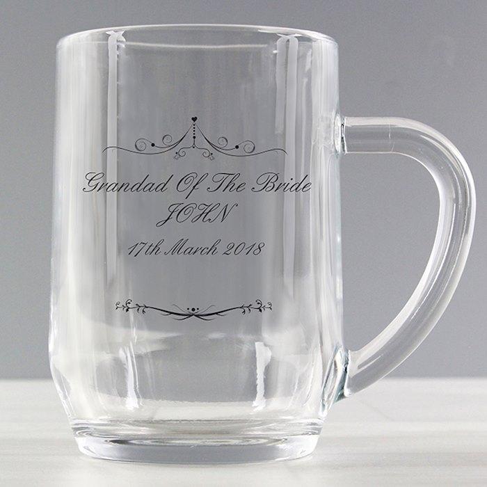 Ornate Swirl Tankard Glass
