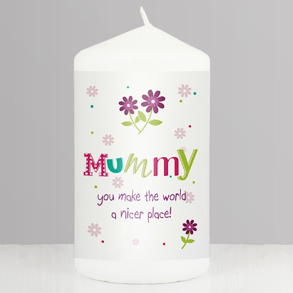 Patchwork Flower Candle