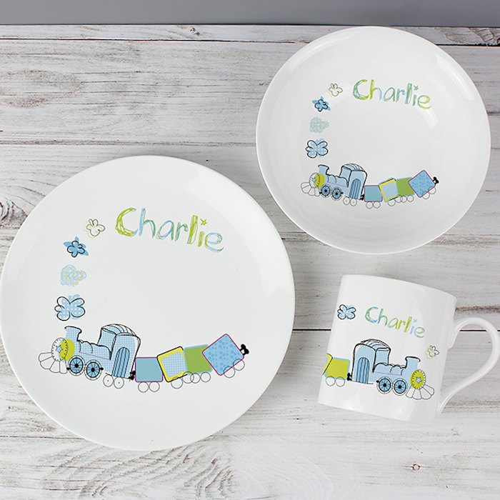 Patchwork Train Breakfast Set