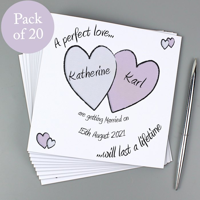 Perfect Love Wedding Pack of 20 Invitations