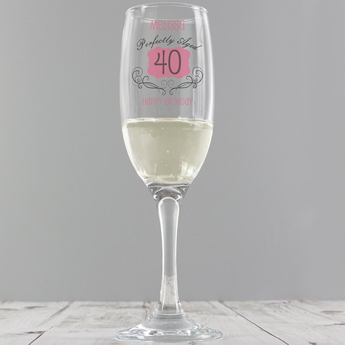 Perfectly Aged Champagne Flute