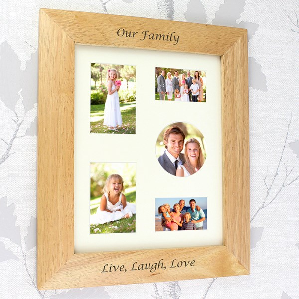 8x10 Wooden Photo Frame, 2 lines of text