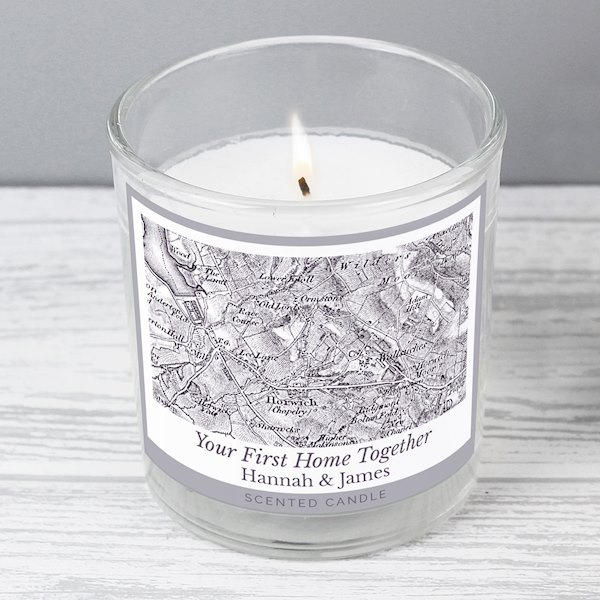 1805 - 1874 Old Series Map Compass Scented Jar Candle