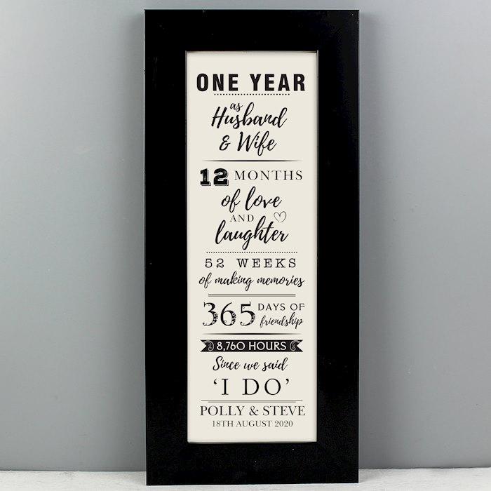 1st Anniversary Letterbox Frame