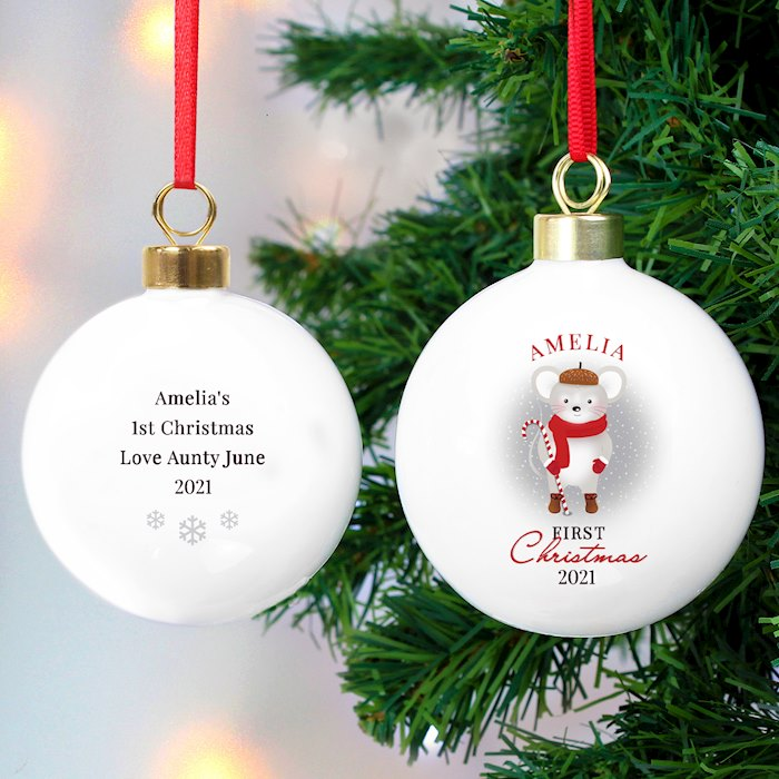 '1st Christmas' Mouse Bauble
