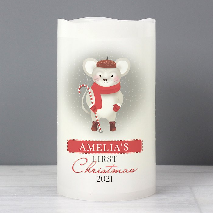 '1st Christmas' Mouse Nightlight LED Candle